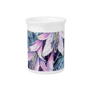 Hosta in bloom pitcher