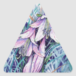 Hosta in bloom triangle sticker