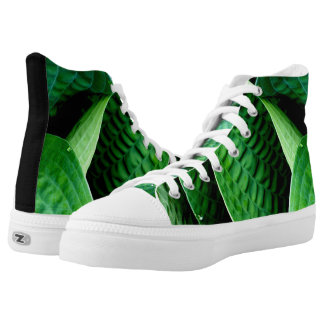 Hosta Leaves Printed Shoes