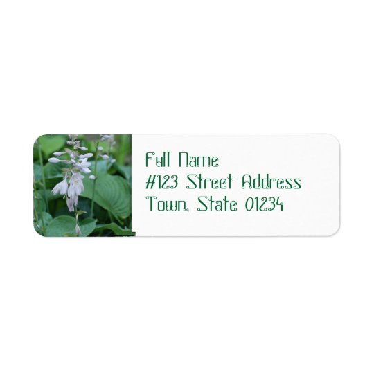Hosta Plant Return Address Mailing Labels