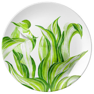 'Hosta with the Mosta' on a Decorative Plate