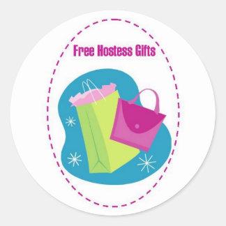 Hostess Gifts Round Sticker