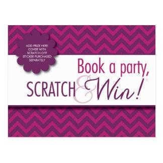 Hostess Scratcher/Instructions Postcard - FACEBOOK