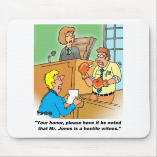 HOSTILE WITNESS MOUSE PAD