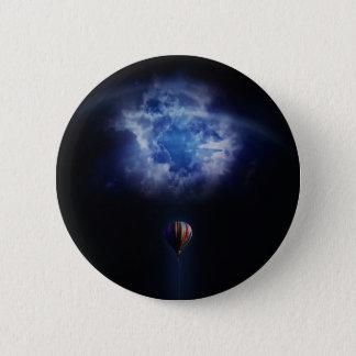 hot air ballon 6 cm round badge