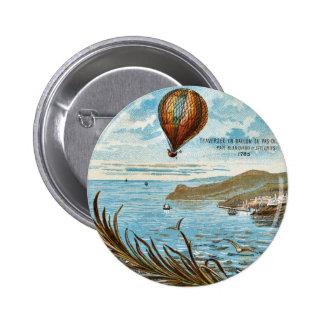 Hot Air Ballon Artwork 6 Cm Round Badge