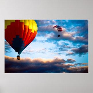 Hot Air Balloon and Powered Parachute Poster