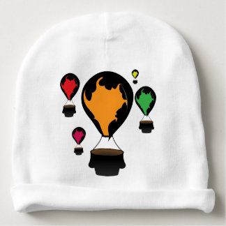 Hot air balloon baby beanie