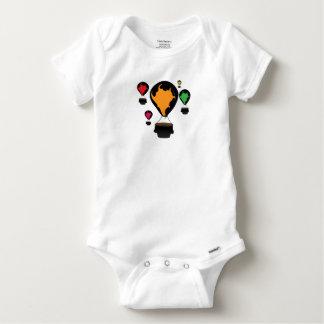 Hot air balloon baby onesie