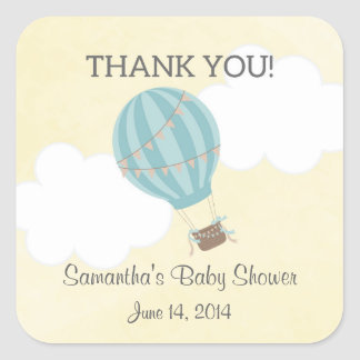Hot Air Balloon Baby Shower Stickers