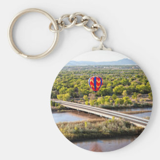Hot Air Balloon Ballooning Over The Rio Grande Key Ring