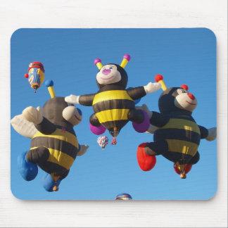 Hot Air Balloon Bee - Ballooning Mouse Pad
