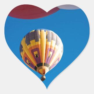 Hot Air Balloon Blue Sky Albuquerque New Mexico Heart Sticker