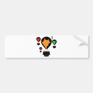 Hot air balloon bumper sticker