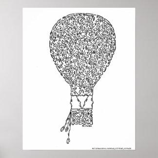 HOT AIR BALLOON by NICHOLAS_COPYRIGHT_M... Poster
