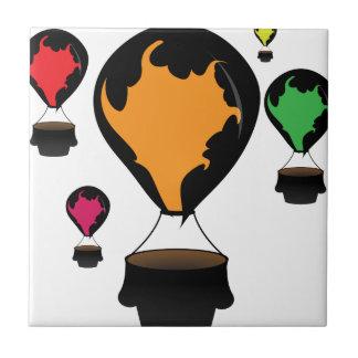 Hot air balloon ceramic tile