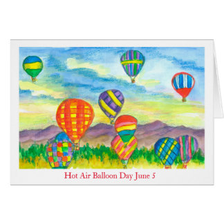 Hot Air Balloon Day June 5 Card