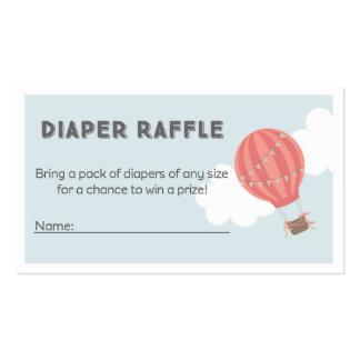 Hot Air Balloon Diaper Raffle Tickets Pack Of Standard Business Cards