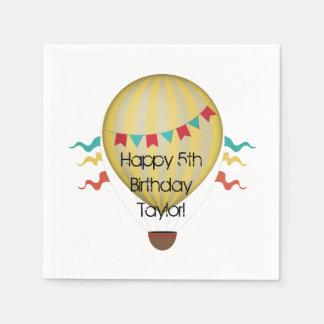 Hot Air Balloon Disposable Napkins