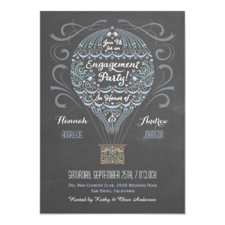 Hot Air Balloon Engagement Party Invitation I