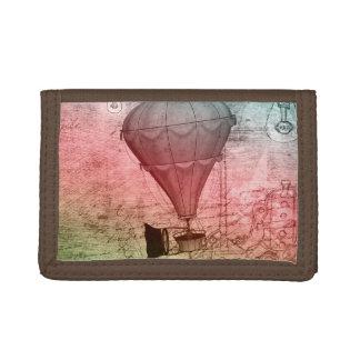 Hot Air Balloon Fantasy Art Steampunk Wallet