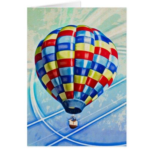 Hot Air Balloon Fantasy Greeting Card