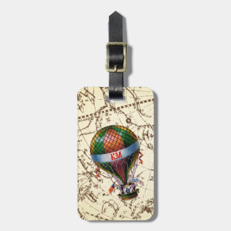 Hot Air Balloon Floats on Zodiac Sky Personalize Luggage Tag