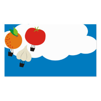 hot air balloon food fruit vegetables garlic busin business cards