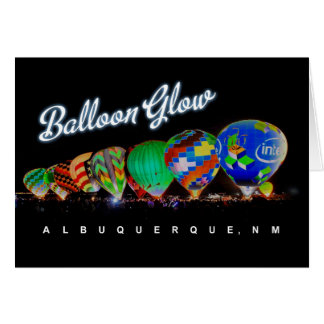 Hot Air Balloon Glow Albuquerque, NM Card