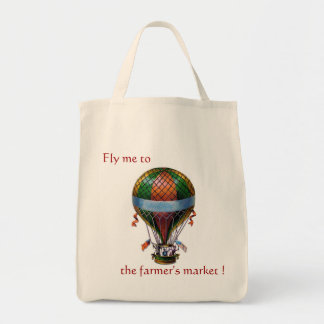 Hot Air Balloon Grocery Tote
