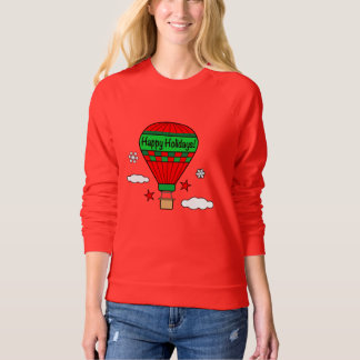 Hot-Air Balloon Happy Holidays! Sweatshirt