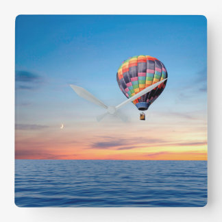 Hot Air Balloon image for Square Wall Clock