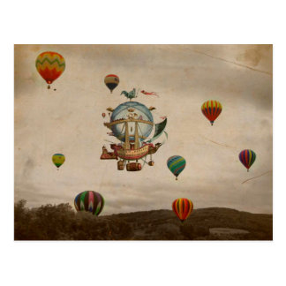 Hot Air Balloon, La Minerve 1803  travel in style Postcard