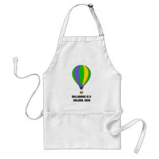 Hot Air Balloon Natural High Apron