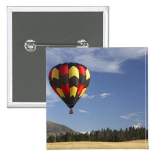 Hot Air Balloon near Wanaka, South Island, New 15 Cm Square Badge