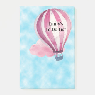 Hot Air Balloon on Blue Sky To Do List Post-it Notes