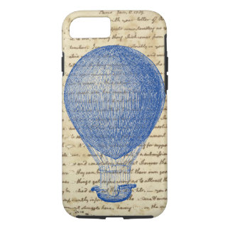 Hot Air Balloon on Vintage Handwriting iPhone 8/7 Case