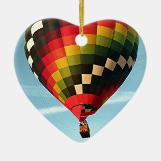 Hot air balloon, Orlando, Florida, USA 1 Ceramic Heart Decoration