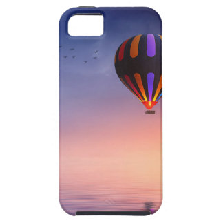 Hot Air Balloon over the Ocean at Sunset Tough iPhone 5 Case