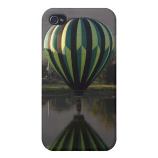 Hot air balloon over the Yakima River 2 Case For iPhone 4