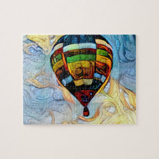 Hot Air Balloon Painted Puzzle