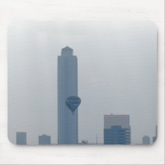 Hot Air Balloon Passing By Williams Energy Tower ( Mouse Pad