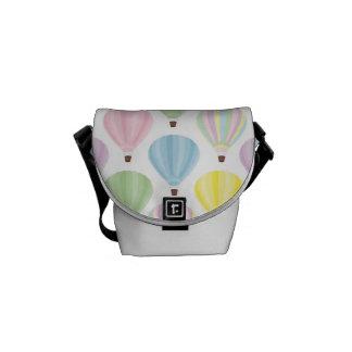 Hot Air Balloon Pastel Pattern Messenger Bag