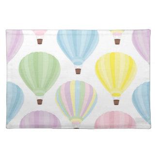 Hot Air Balloon Pastel Pattern Placemat