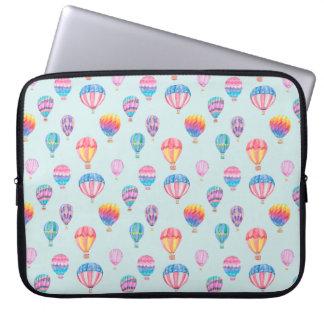 Hot Air Balloon Pattern Laptop Sleeve