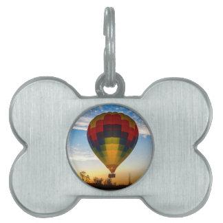 Hot Air Balloon Pet ID Tag