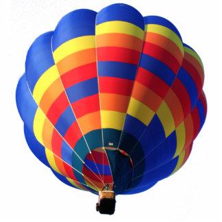 Hot Air Balloon Pin Photo Sculpture Badge