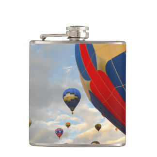 Hot Air Balloon Race in Reno Nevada Hip Flask