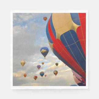 Hot Air Balloon Race in Reno Nevada Paper Napkins