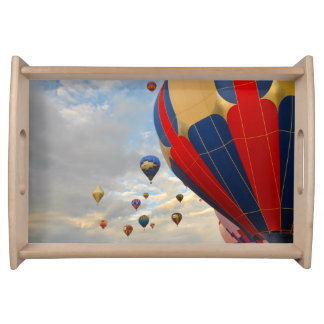 Hot Air Balloon Race in Reno Nevada Serving Tray